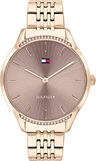 Tommy Hilfiger Women'S Grey Dial Ionic Rose Gold Plated Steel Watch - 1782212