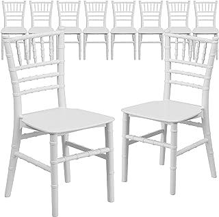Flash Furniture 10 Pk. Kids White Resin Chiavari Chair