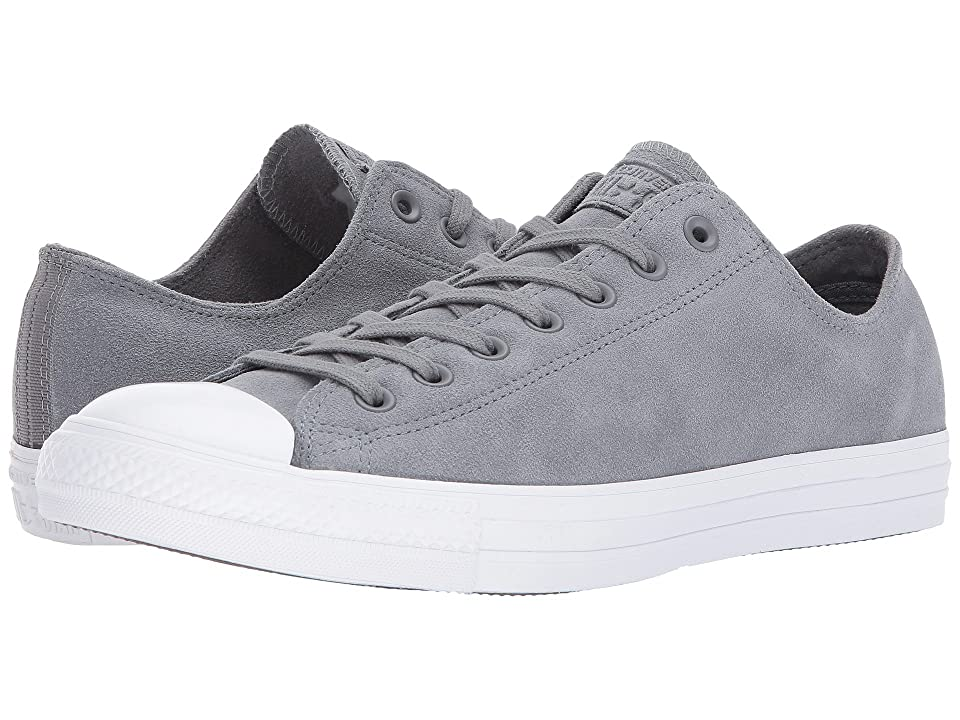 Converse Chuck Taylor(r) All Star(r) Plush Suede Ox (Cool Grey/Cool Grey/White) Classic Shoes