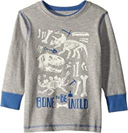 Bone to be Wild Preppy Long Sleeve Tee (Toddler/Little Kids/Big Kids)