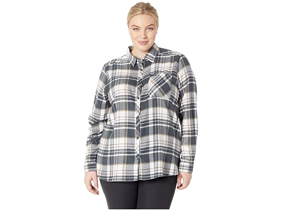 Columbia Plus Size Simply Puttm II Flannel Shirt (Shark Plaid) Women