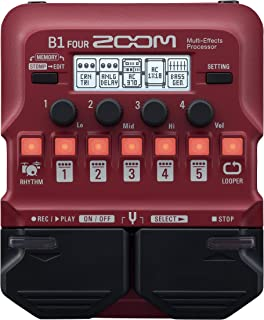 Zoom B1 FOUR Bass Guitar Multi-Effects Processor Pedal,...