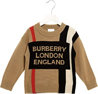 BURBERRY Luxury Fashion Boys 8017868 Brown Sweater | Fall Winter 19