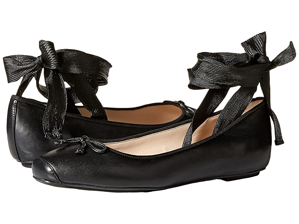 Cole Haan Downtown Ballet (Black Leather) Women