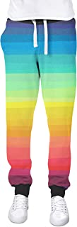 Rainbow Rules Color Up Your Life! Cuffed Joggers Sweatpants Jogging Bottoms
