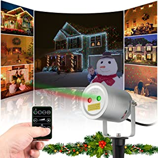 Starry 2 Color Motion Laser Light Star Projector with RF Remote Auto On/Off Timer. A FDA Approved Pool Camping Garden Holiday Christmas Laser Light Laser Lights LLC