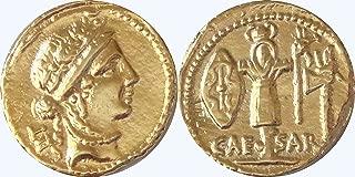 Golden Artifacts Julius Caesar and Venus, Republic to Empire, Roman Coins, Roman Empire (29-G)