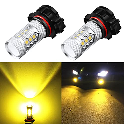 Alla Lighting High Power 3030 SMD New Version Xtremely Super Bright 2504 PSX24W Gold Yellow LED