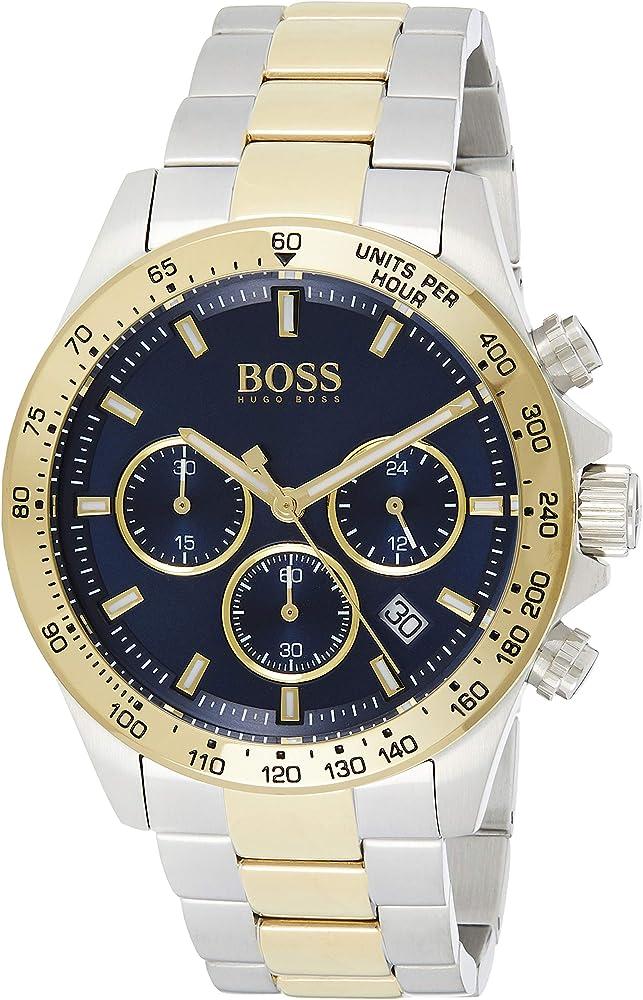 Hugo boss, orologio cronografo analogico al quarzo per uomo, in acciaio inossidabile 1513767