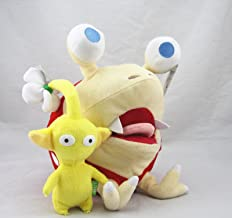 D-Khaleesi Bulborb Chappy Yellow Flower Pikmin Figure Animal Toys Plush Doll Collectable Set of 2