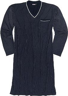 Adamo - Camicia da notte a maniche lunghe con strisce bianche, taglia 10XL