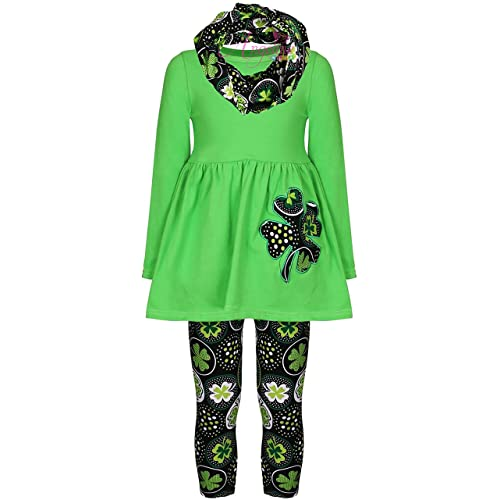 56c91d311db64 Baby Toddler Little Girls St. Patrick's Day Luck of Irish Outfit Set -  Tunic Leggings