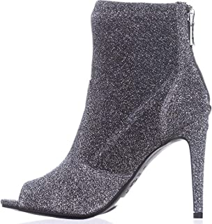 G By Guess Womens Bex Open Toe Ankle Fashion Boots, Pewter Lurex, Size 6.5