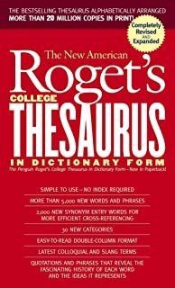 New American Roget's College Thesaurus in Dictionary Form (Revised & Updated)