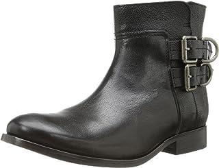 حذاء قصير للنساء من FRYE برقبة على شكل D، أسود، 7 M US