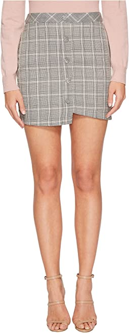 J.O.A. - Printed Asymmetric Mini Skirt