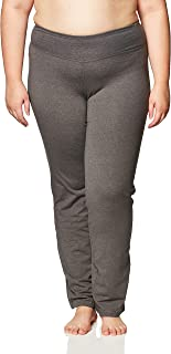 Fit for Me by Fruit of the Loom Women's Plus Size Relaxed Fit Yoga Pant, Medium Grey Heather, 1X