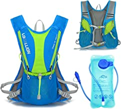 Sywwlov Hydration Pack Backpack with 1L Water Bladder,Lightweight 5L Hydration Vest Rucksack for Outdoor Camping Cycling Hiking Running