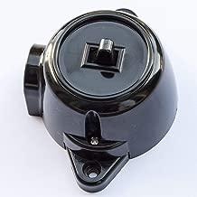 Retro Toggle Single Control Wall Runde altmodische Taste Lichtschalter flach