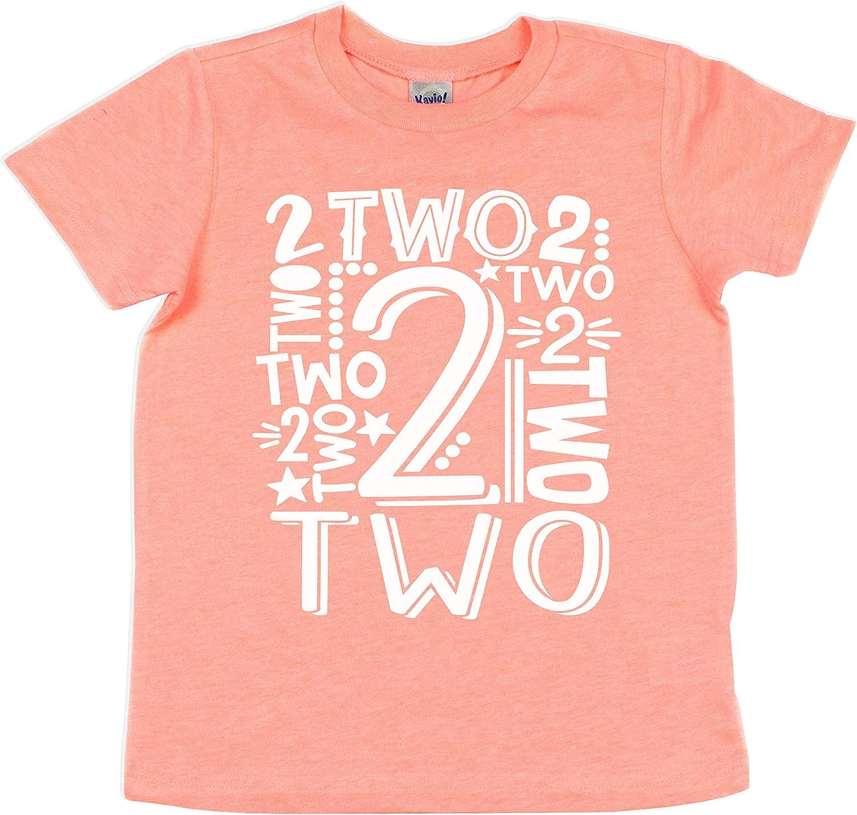 Two Boys Girls 2nd Birthday Shirt Gift Toddler Kids Party T-Shirt