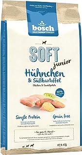 bosch HPC SOFT junior| Pollo y Batata | Comida semihúmeda (18 % humedad residual) para perros jóvenes de todas las razas | Sin cereales | 12,5 kg