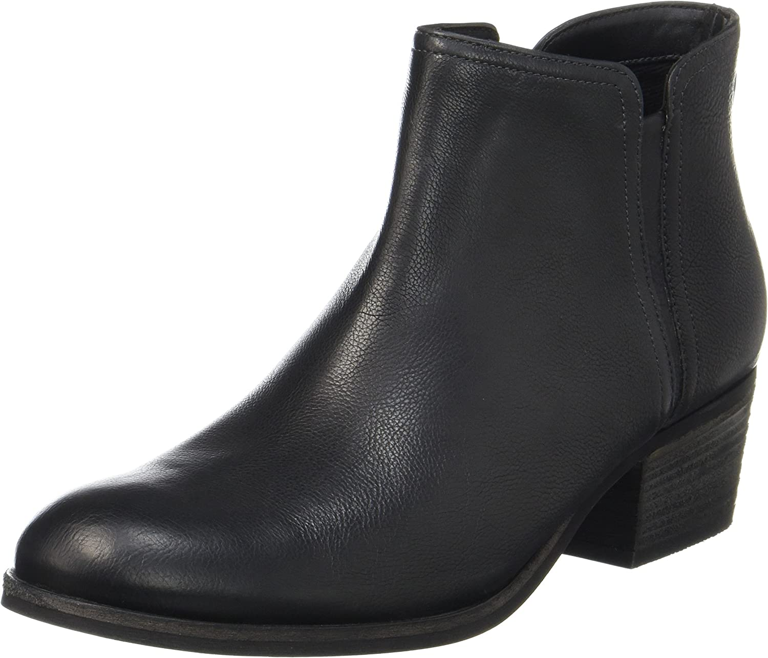 Clarks Maypearl Ramie - Black Leather Womens Boots