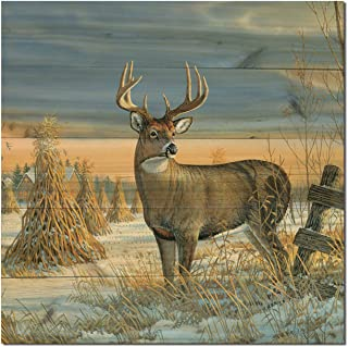 WGI-GALLERY WA-WTD-2424 Whitetail Deer in Winter Wall Art