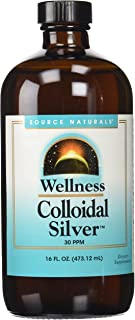 Source Naturals Wellness Colloidal Silver Liquid Subligual Pure, Premium Silver Mineral Supplement - Cold Season Defense - 16 oz