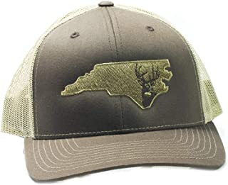 Low Country Clothing Company Official North Carolina Deer Adjustable Hat - Embroidered on Richardson 112 Trucker Hat