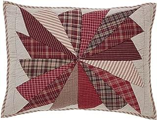 VHC Brands Farmhouse Rustic & Lodge Bedding - Ozark Red Sham, Standard, Black