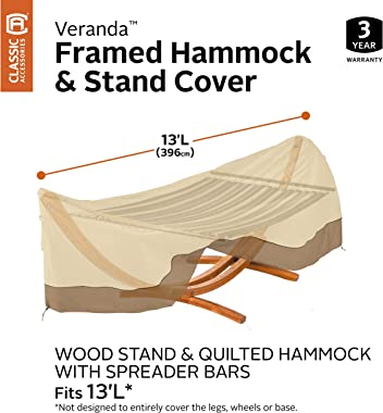 Classic Accessories Veranda Water-Resistant 13 Foot Framed Hammock & Stand Cover