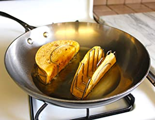 Make it Real Mi Taco Stand - Make Perfect Flat-Bottom Taco Shells for Baking, Frying or Air Frying - Using REAL Corn or Fl...