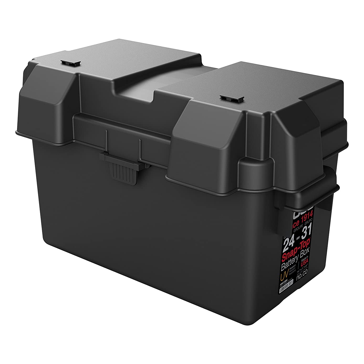 NOCO Black HM318BKS Group 24-31 Snap-Top Box for Automotive, Marine, and RV Batteries kwy3772448