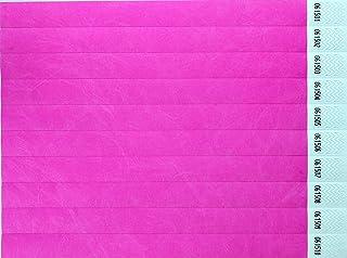 CARTALOTO-1000 Bracelets d'identification Tyvek 19mm – Néon Pink, BITSNP, Multicouleur
