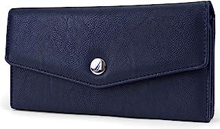 Nautica Money Manager RFID Women's Wallet Clutch Organizer (Indigo Buff)