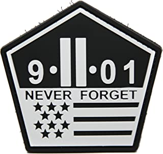 NEO Tactical Gear 9/11 Memorial Patch - PVC Rubber Morale Patch - Hook Backed - from 911 Memorial - Never Forget