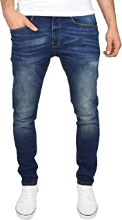 Duck and Cover Mens Maylead Slim Fit Jeans in Black