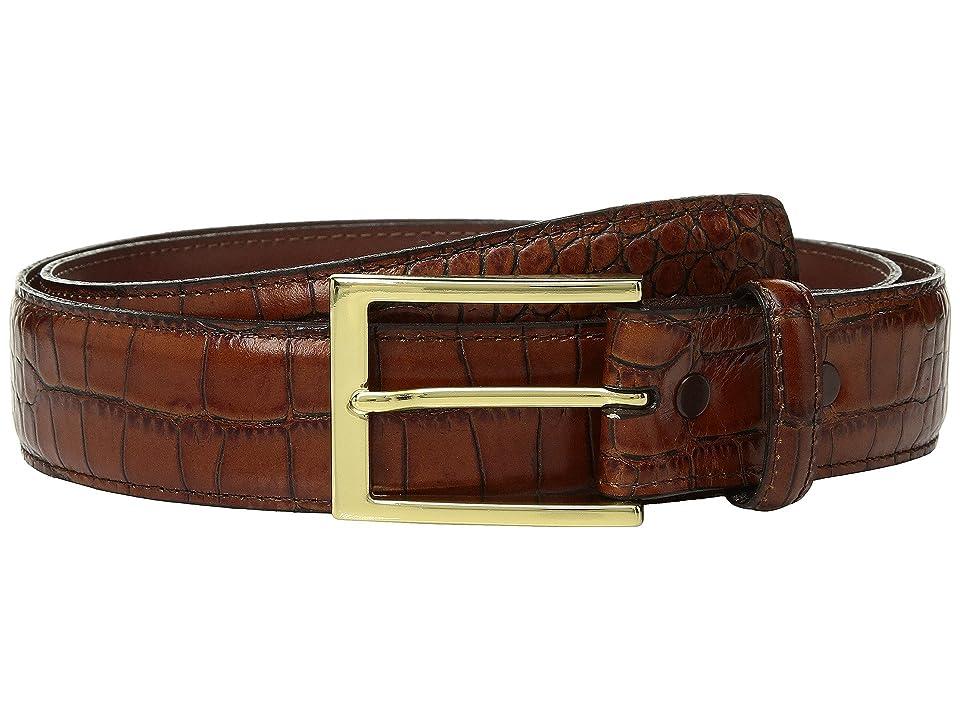 Torino Leather Co. 35mm Gator Grain Embossed Calf (Cognac) Men
