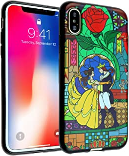 iPhone Xs Case, DURARMOR FlexArmor iPhone X Beauty and The Beast ScratchSafe Rubber TPU Case Drop Protection Cover for iPhone Xs Beauty and The Beast