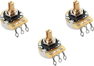 Lot of 3 (3X) CTS 450G Series 250K Vintage-style Short Split Shaft Audio Taper Potentiometers for Stratocaster