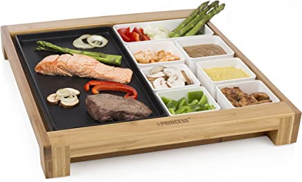 Princess 竹制餐盘 带保温功能 - 带保温板的早餐拼盘 - 多用途,255000