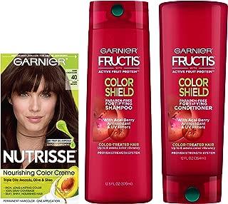 Garnier Nutrisse Hair Color & Fructis Color Shield Regimen Kit, 40, 3 count