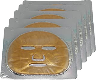 EMILYSTORES 5PCS 24K Gold Gel Collagen Facial Masks Sheet Patch Anti Ageing Puffiness Skincare Anti Wrinkle Moisturising, For Deep Tissue Rejuvenation, Spring Summer Cool Feel