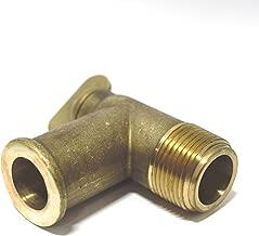 BARR MARINE Brass Exaust Manifold Drain Plug Elbow Replaces MerCruiser 50-806926, 18-4224