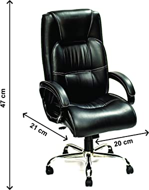 High Living High-Back Executive Office Chair | Desk Chair | Director Chair - Black