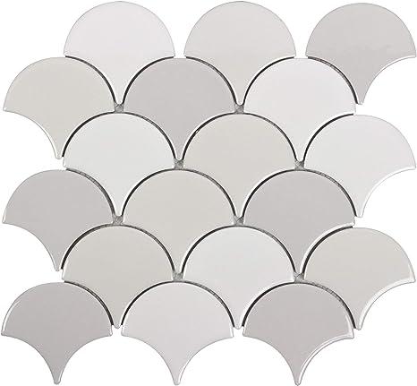 Modern Circular Grey White Stone Mosaic Tile MTO0212