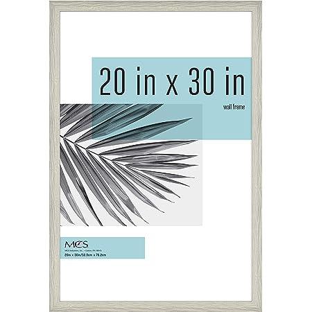 Craig Frames Dakota 800122030 3-Inch Wide 20x30 Inch Off-White Rustic Pine Picture Frame