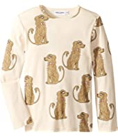 mini rodini - Spaniel Long Sleeve Tee (Infant/Toddler/Little Kids/Big Kids)
