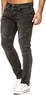 Elara Jeans Uomo Pantaloni Slim Fit Biker Jeans Chunkyrayan