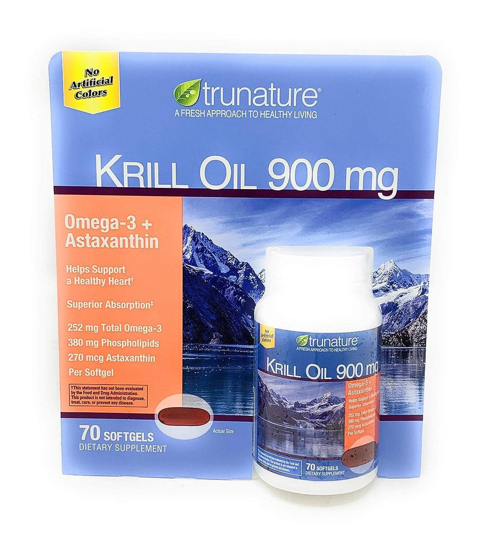 浸した昆虫雰囲気【並行輸入品】 Trunature Krill Oil 900mg 70 Softgels